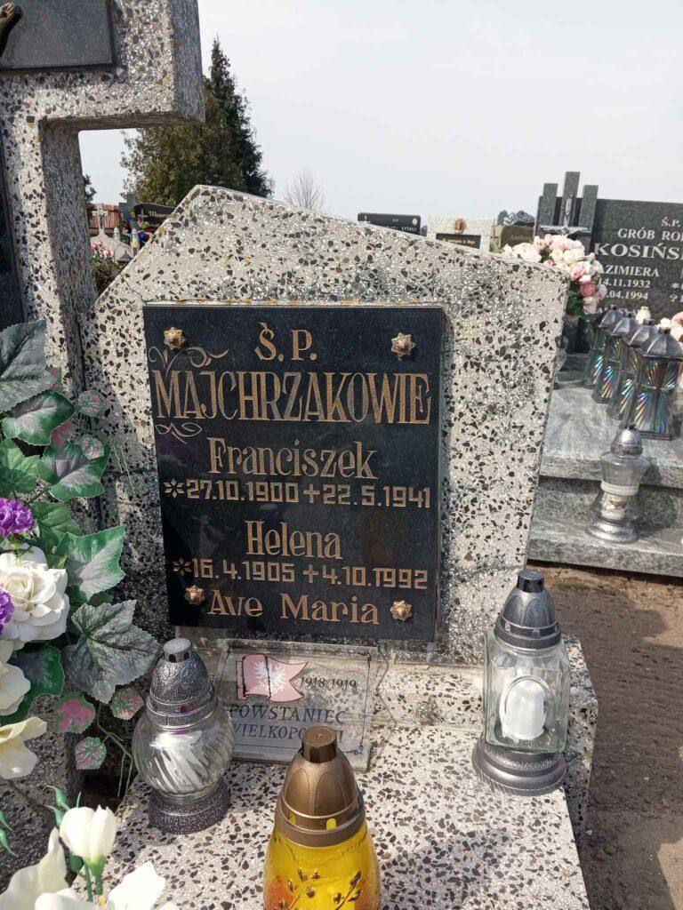 Franciszek Majchrzak - cmentarz parafialny w  Bieganowie (zdjęcie udostępnił Remigiusz Maćkowiak)