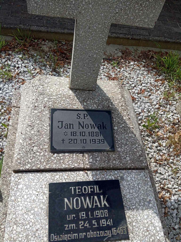 Jan Nowak - cmentarz w Kostrzynie (zdjęcie udostępnił Remigiusz Maćkowiak)