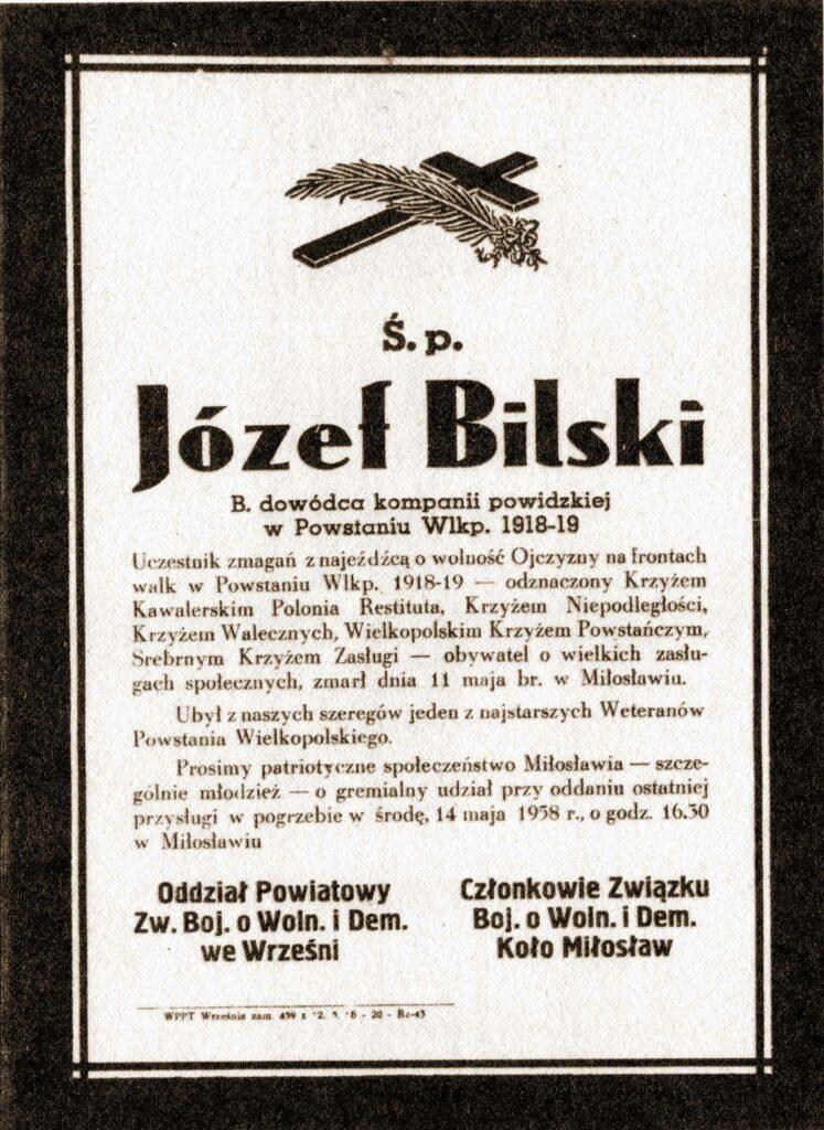 Józef Bilski - nekrolog