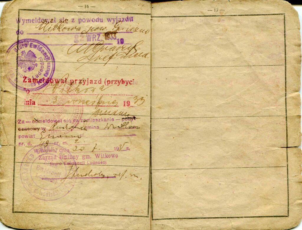 Józef Nowicki - książeczka wojskowa (dokument udostępnił Remigiusz Maćkowiak)