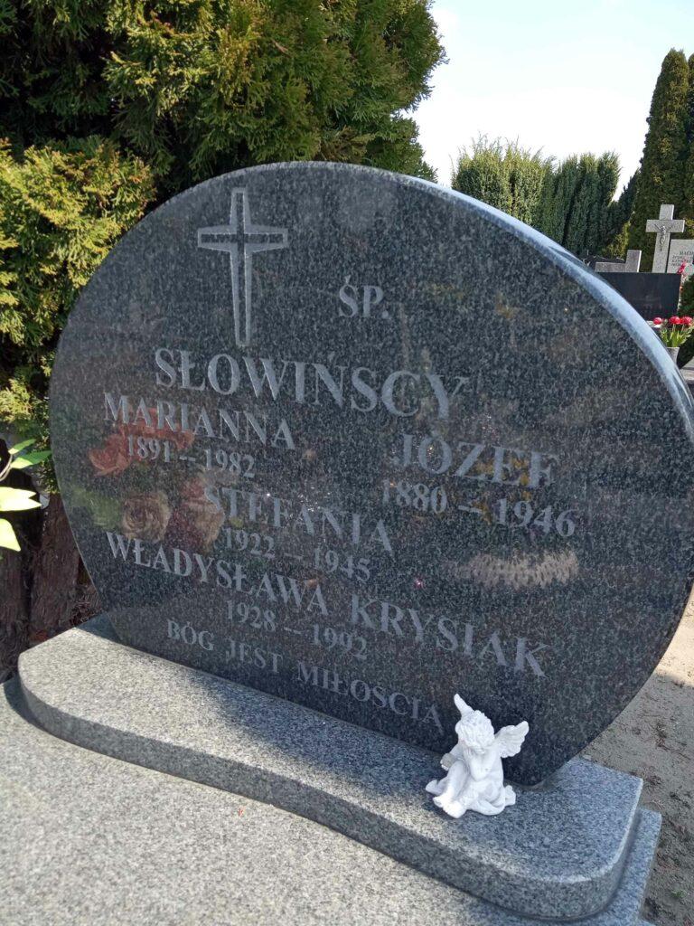 Józef Słowiński - cmentarz parafialny w Strzałkowie (zdjęcie udostępnił Remigiusz Maćkowiak)