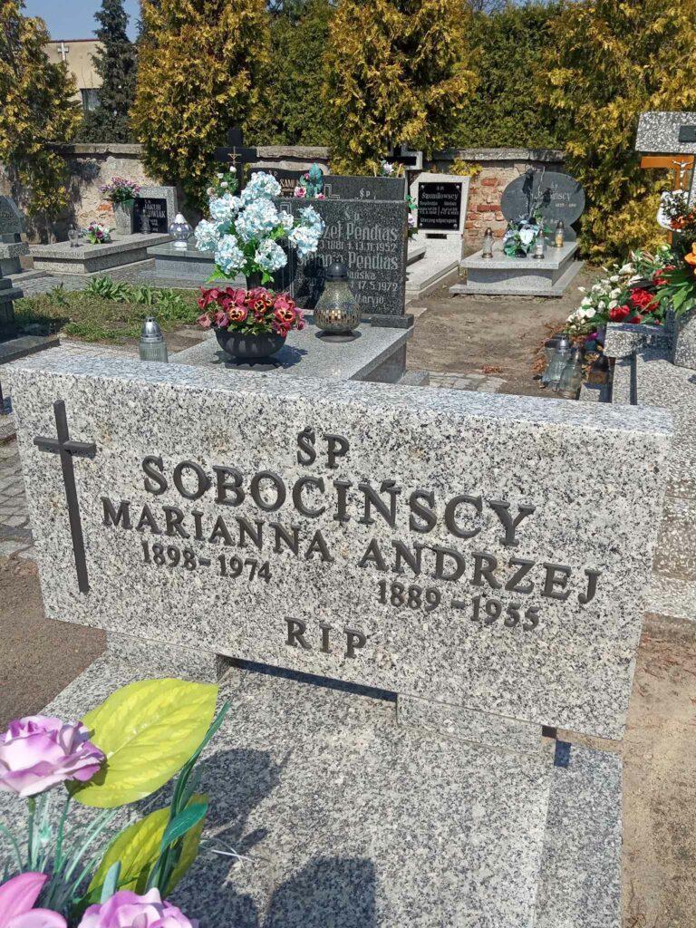 Marianna Sobocińska - cmentarz parafialny w Strzałkowie (zdjęcie udostępnił Remigiusz Maćkowiak)
