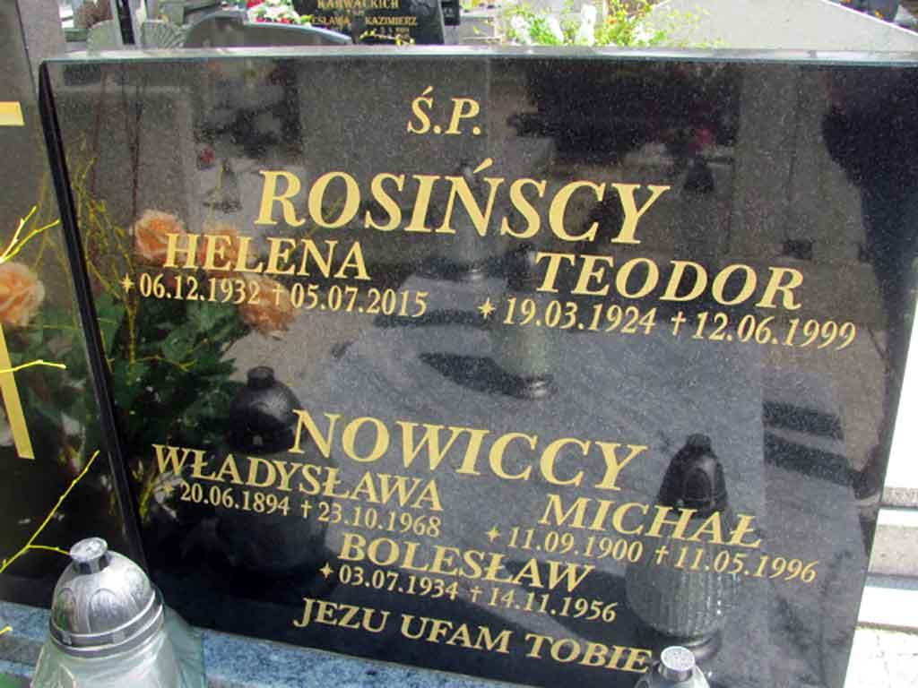 Michał Nowicki - cmentarz św. Krzyża w Gnieźnie