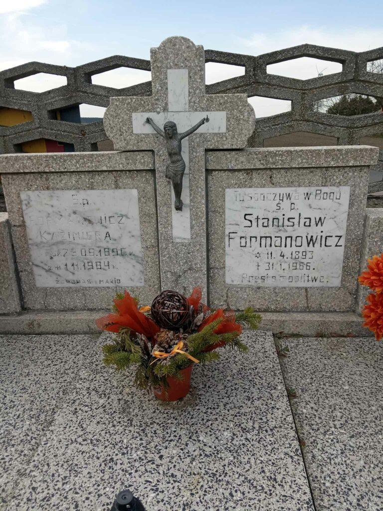 Stanisław Formanowicz - cmentarz parafialny w Kołaczkowie (zdjęcie udostępnił Remigiusz Maćkowiak)