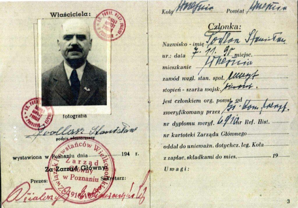 Stanisław Podlasz (dokument udostępnił Remigiusz Maćkowiak)