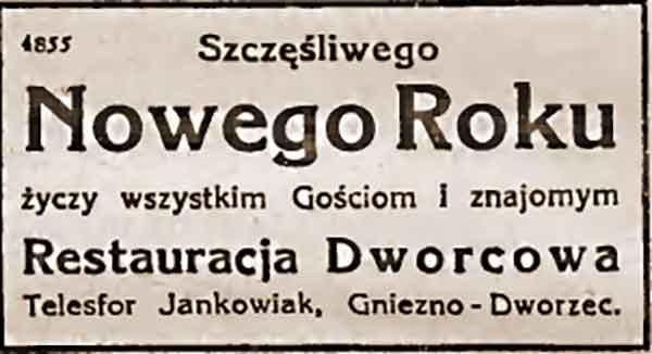 Telesfor Jankowiak - Lech Gazeta Gnieźnieńska nr 1 z 01.01.1936 r.