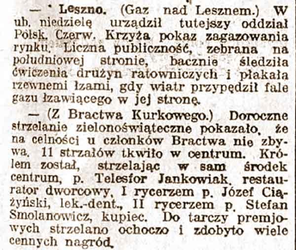Telesfor Jankowiak - Kurier Poznański nr 234 z 25.05.1932 r.
