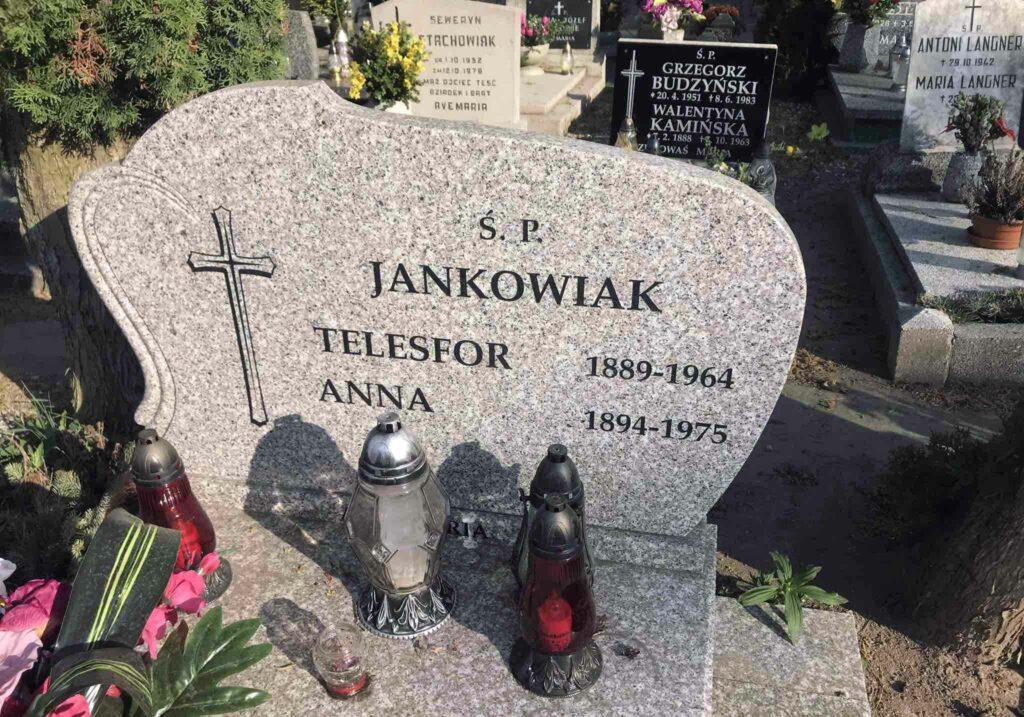 Telesfor Jankowiak - cmentarz Parafii Matki Boskiej Bolesnej (cm. górczyński) w Poznaniu