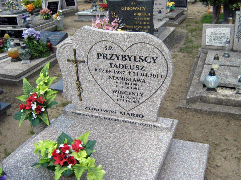 Wincenty Przybylski - cmentarz parafialny w  Biechowie (zdjęcie udostępnił Remigiusz Maćkowiak)