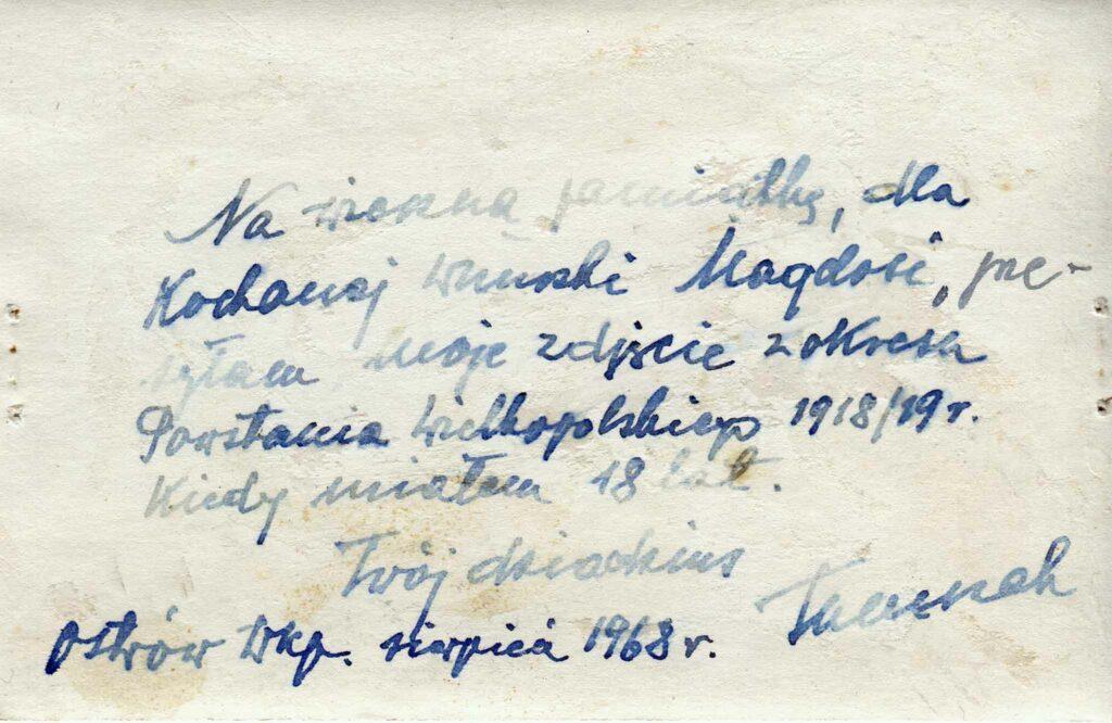 Wincenty Tomczak (zdjęcie udostępnił Remigiusz Maćkowiak)