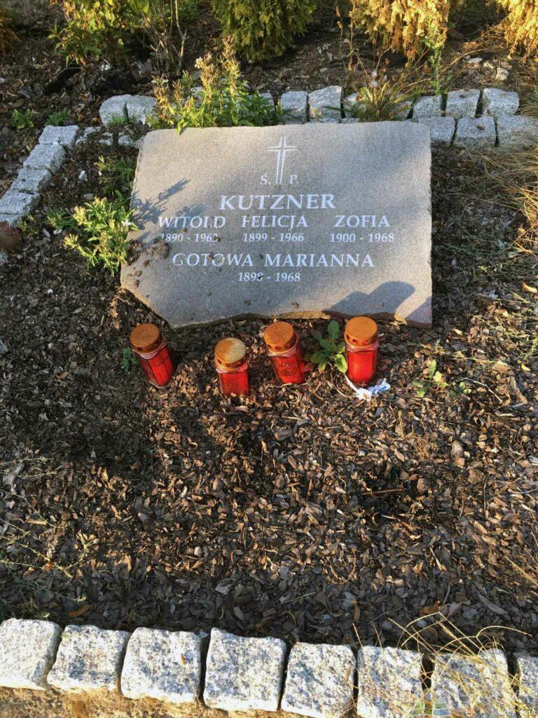 Witold, Felicja i Zofia Kutzner - cmentarz junikowski w Poznaniu
