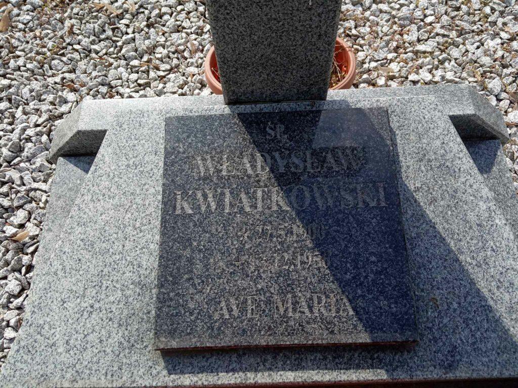 Władysław Kwiatkowski - cmentarz w Kostrzynie (zdjęcie udostępnił Remigiusz Maćkowiak)