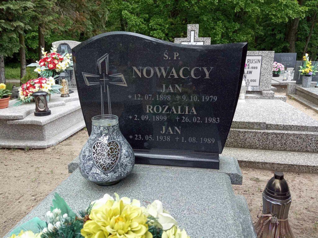 Jan Nowacki - cmentarz komunalny we Wrześni (zdjęcie udostępnił Remigiusz Maćkowiak)
