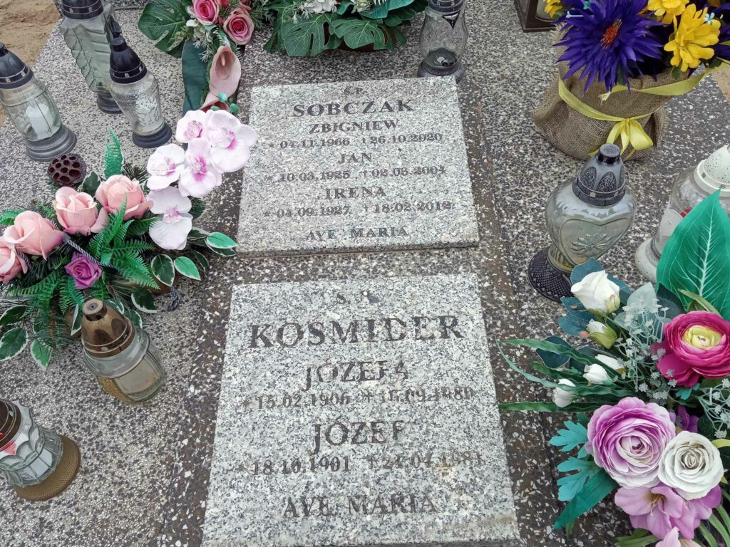 Józef Kośmider - cmentarz parafialny w Pięczkowie (zdjęcie udostępnił Remigiusz Maćkowiak)