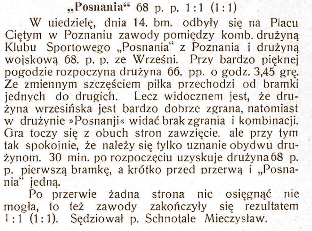 Mieczysław Schnotale - Sportowiec nr 17 z 24.11.1920 r.
