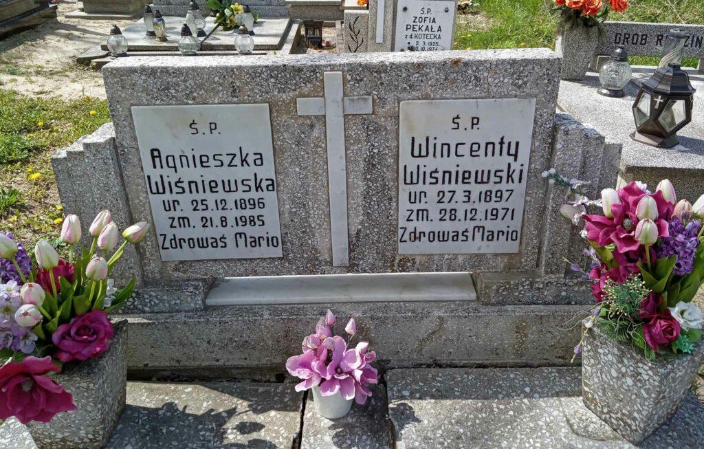 Wincenty Wiśniewski - cmentarz w Siedlcu (zdjęcie udostępnił Remigiusz Maćkowiak)