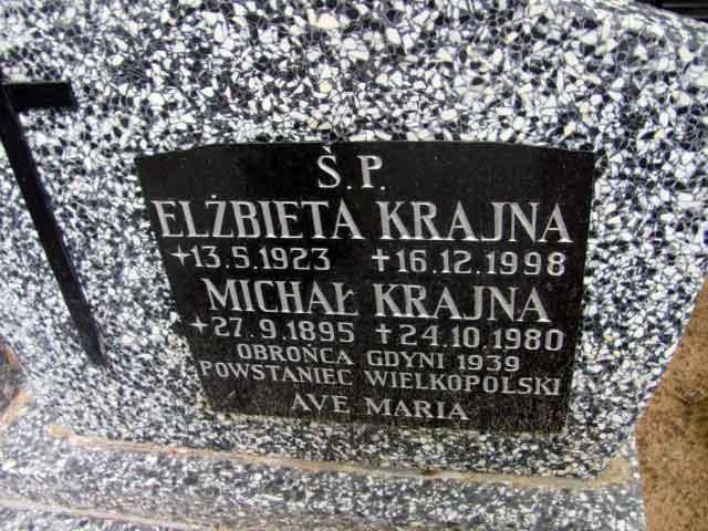 Michał Krajna - cmentarz witomiński w Gdyni