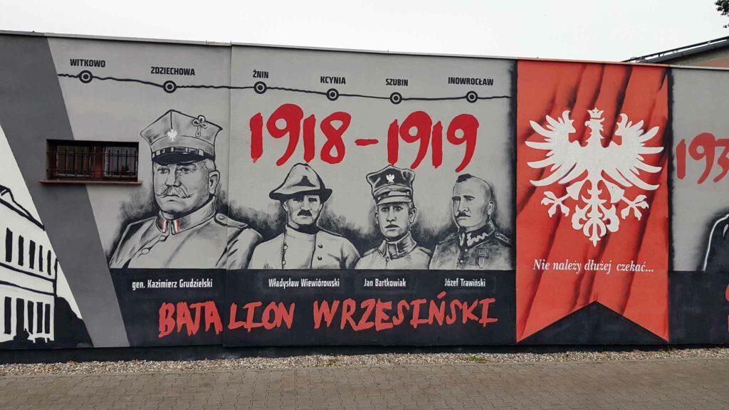 Mural przy ulicy Gnieźnieńskiej we Wrześni (autor Jarosław Czyż)
