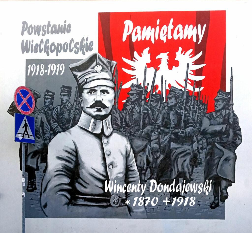 Mural na ul. Moniuszki we Wrześni (autor Radosław Karbowiak)