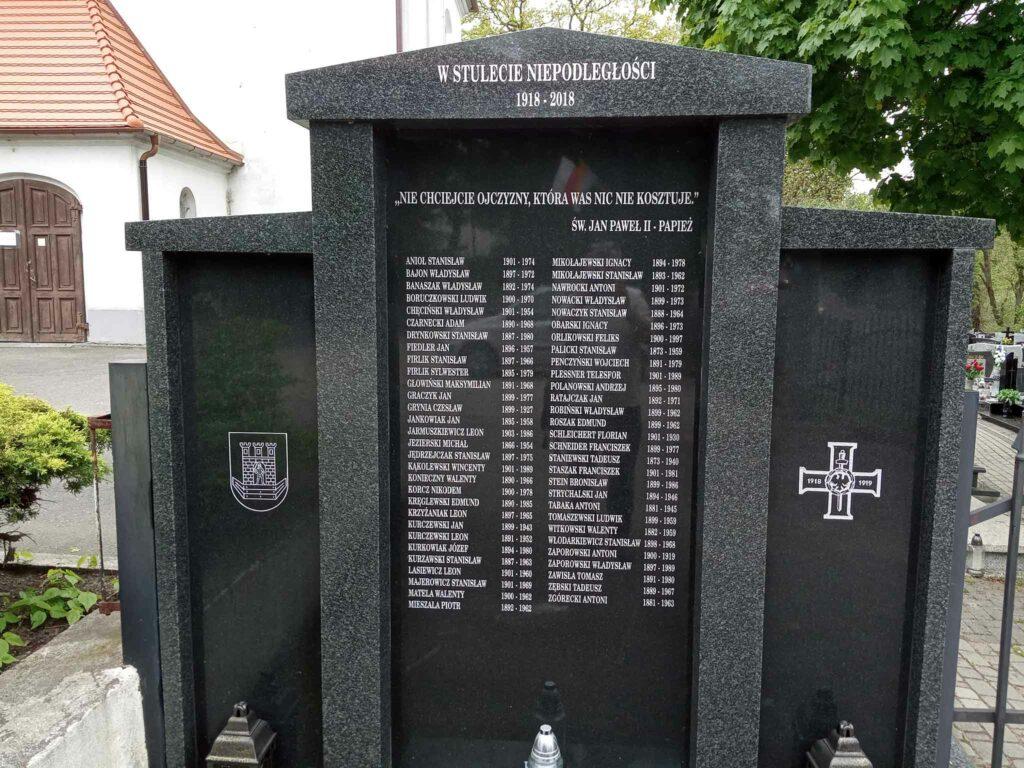 Tablica przy cmentarzu obok Kościoła Św. Marcina Bpa  w Swarzędzu