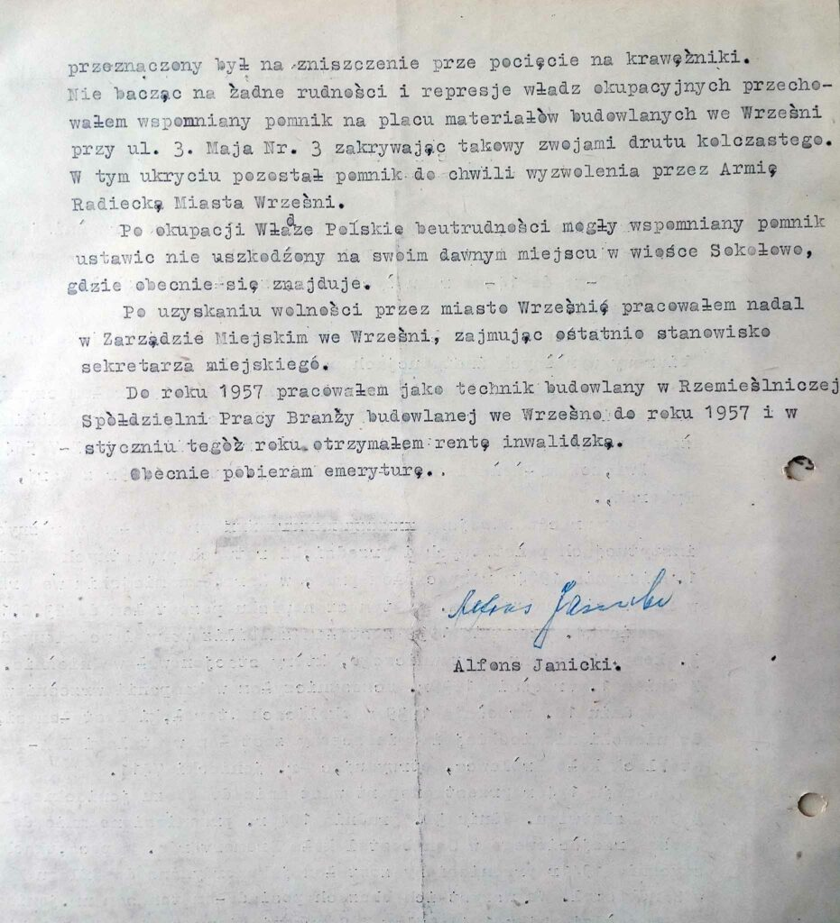 Alfons Janicki - (dokument udostępnił Remigiusz Maćkowiak)