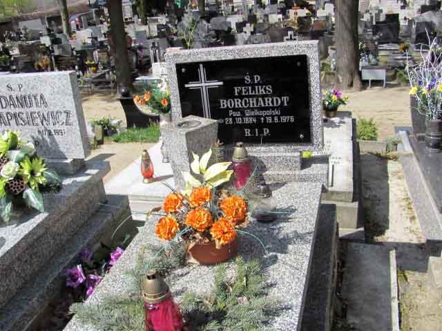 Feliks Borchardt - cmentarz Parafii Św. Krzyża w Gnieźnie