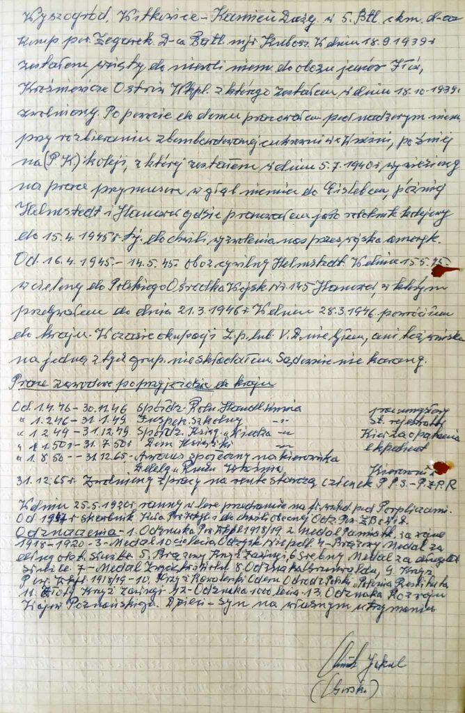 Jakub Górski  (dokument udostępnił Remigiusz Maćkowiak)
