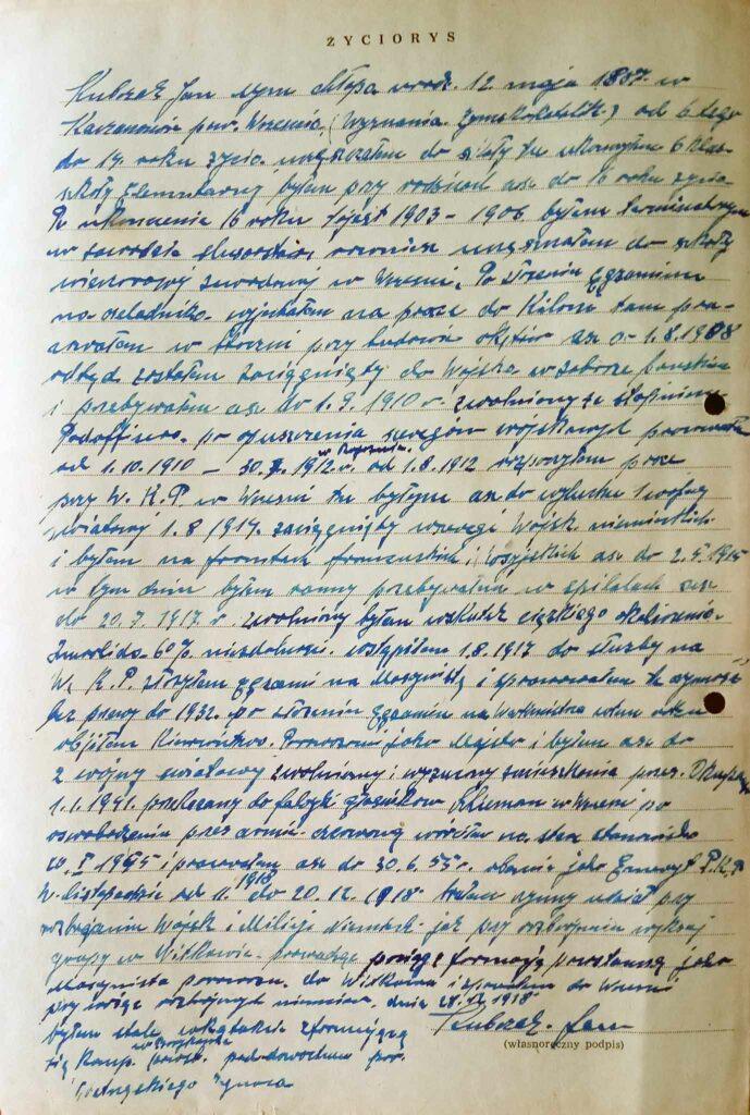 Jan Kubczak (dokument udostępnił Remigiusz Maćkowiak)