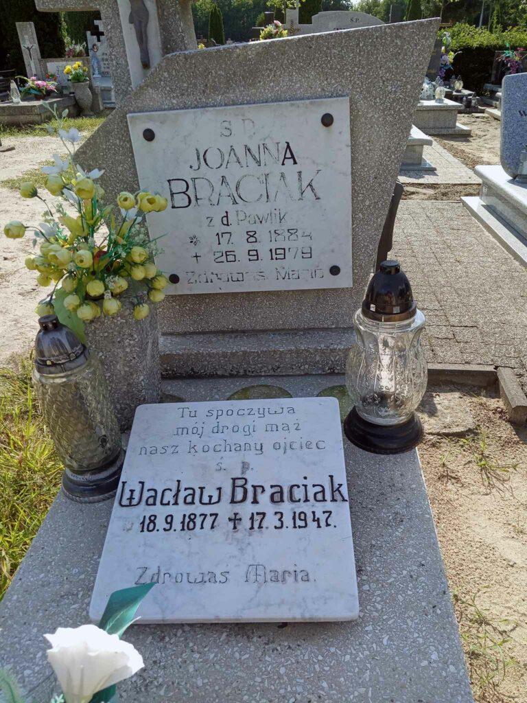 Wacław Braciak - cmentarz komunalny we Wrześni (zdjęcie udostępnił Remigiusz Maćkowiak)
