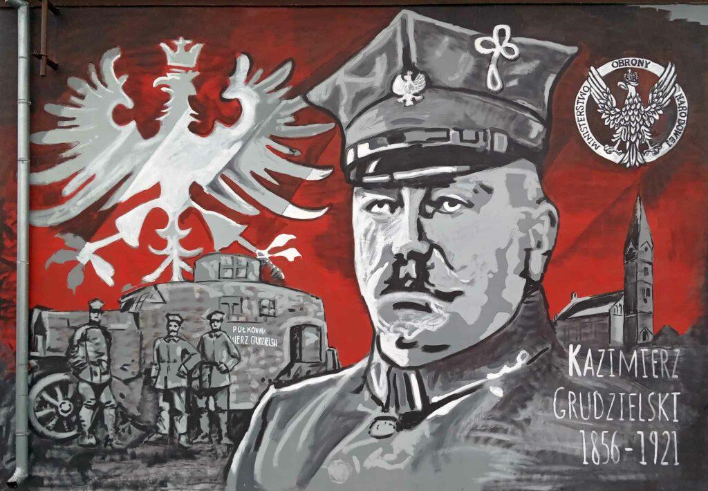 Mural w Gozdowie (zdjęcie udostępnił Remigiusz Maćkowiak)