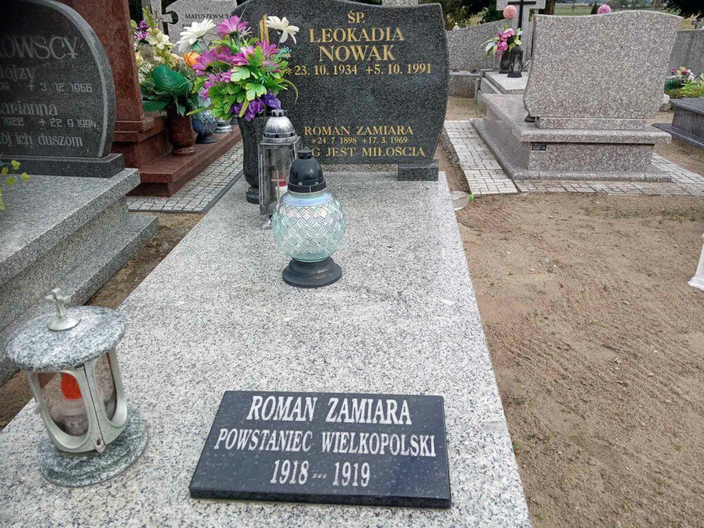 Roman Zamiara - cmentarz parafialny w Mielżynie (zdjęcie udostępnił Remigiusz Maćkowiak)